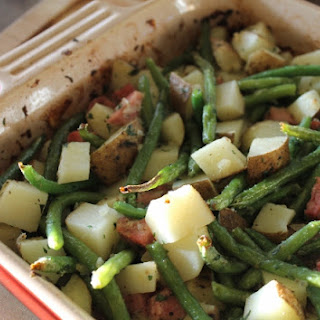 Roasted Potato and Ham Casserole