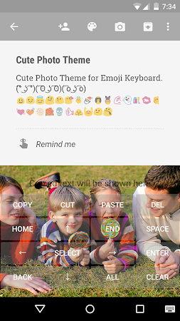 Cute Photo Emoji Keyboard Free 3.0.1 screenshot 315744