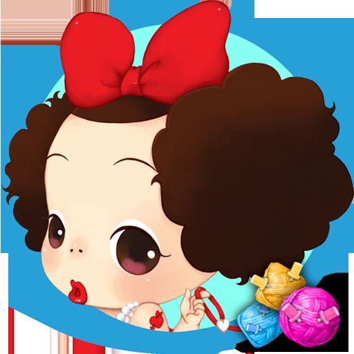 解谜のファッションデザイナー 脹れっ面 少女 LOGO-記事Game