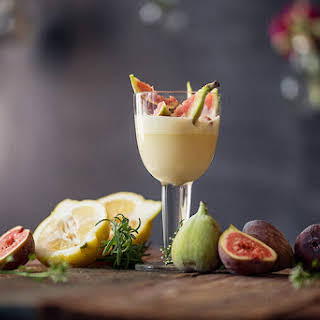 Sabayon with Prosecco and Figs.