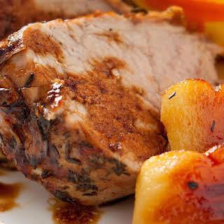 Apple Glazed Crockpot Pork Roast.