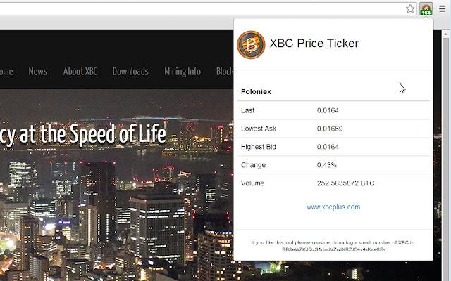 BitcoinPlus Ticker