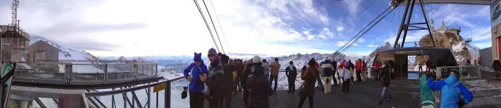 Photo: Looking back at Italy from top of Gondola