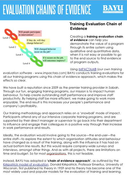 The Kirkpatrick Phillips Evaluation Model Popular Learning Evaluation Models Infographic    http   elearninginfographics com popular