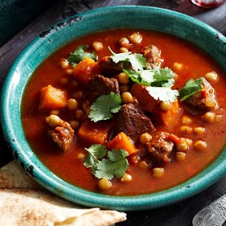 Spiced Lamb And Pumpkin Soup.