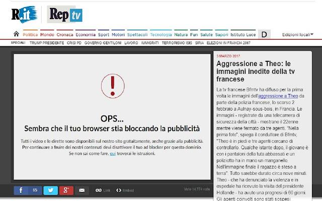 Hide my Adblocker per Repubblica.it