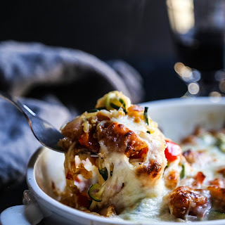 Sweet and Sour Chicken Zoodle Bake