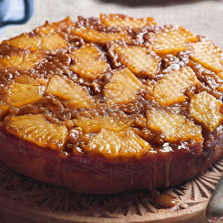 Pineapple And Ginger Upside-down Cake.