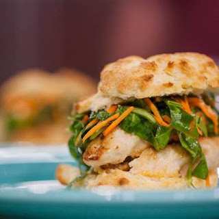 Fried Chicken and Buttermilk Biscuit Sandwiches with Slaw