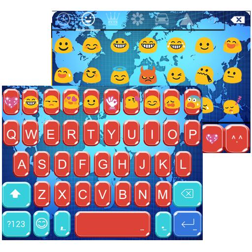 App insights world map emoji keyboard theme apptopia world map emoji keyboard theme gumiabroncs Gallery