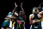 A file photo of Bongiwe Msomi applauding the crowds after winning the preliminaries stage two schedule match between South Africa and Uganda at M&S Bank Arena on July 17, 2019 in Liverpool, England.