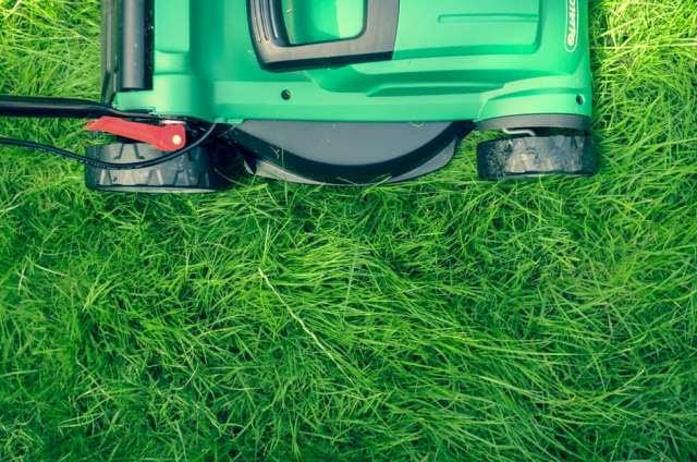 Green Push Lawn Mower