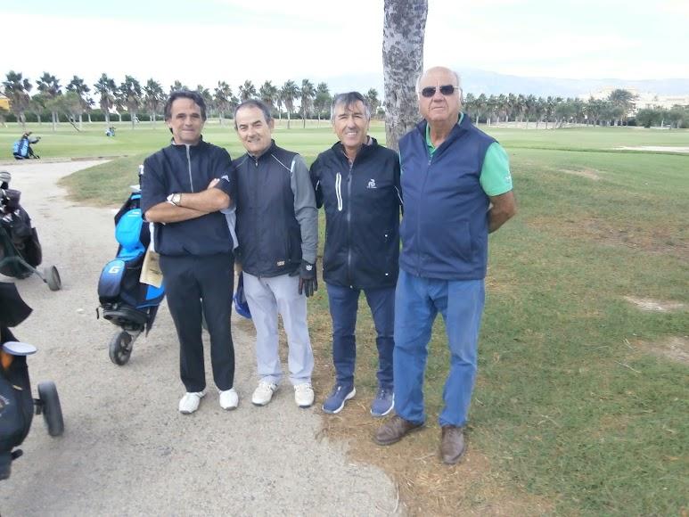 Golfistas de mucho nivel.
