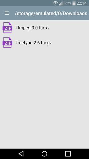 Simple unzip, unrar and zip 2.2a screenshots 2