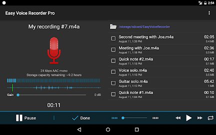 Easy Voice Recorder Pro Screenshot 7