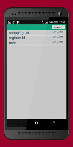 Notepad: Minimalist Notepad 1.1 screenshots 2
