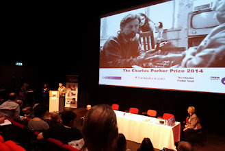 Photo: Andy Cartwright introducing the results of the Charles Parker Prize 2014