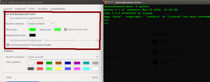 How to Change Terminal Theme Font & Color