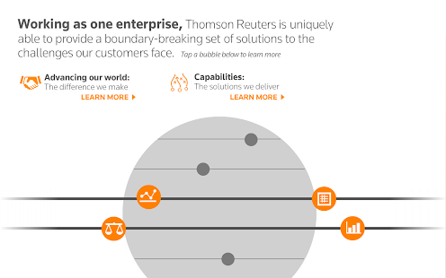 Thomson Reuters Our Story- screenshot thumbnail