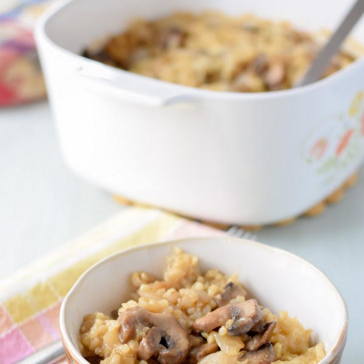 Marvelous Mushroom Parmesan Rice Casserole