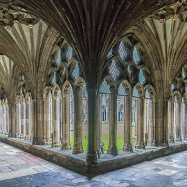 The Cloisters, Canterbury Cathedral by Jo Sowden - Buildings & Architecture Public & Historical