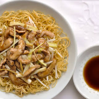 Cantonese Fried Noodles (Pork Chow Mein).
