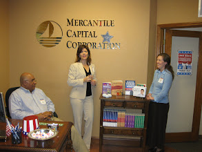 Photo: SBA 504 Experts Ken, Carolyn, and Melissa at Mercantile Capital Corporation's Open House www.504Experts.com