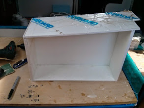 Photo: fitting top of box for galley storage