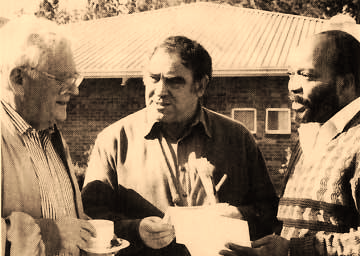 Joe Slovo, Ronnie Kasrils and Jacob Zuma in exile days.