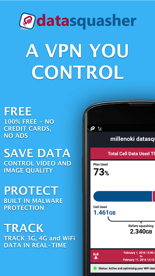 VPN datasquasher by millenoki- screenshot