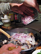 Photo: ... adding sliced shallots