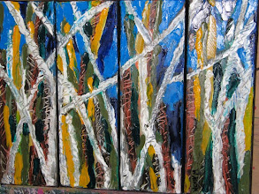 Photo: Summers Day four paintings Oil 40cmx30cm $60