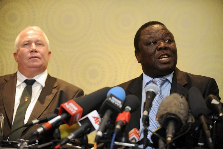 Roy Bennett and Morgan Tsvangirai of the MDC.