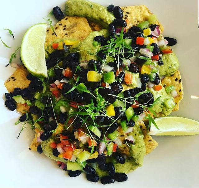 GF Vegan Nacho Platter at Lilikoi Organic Living