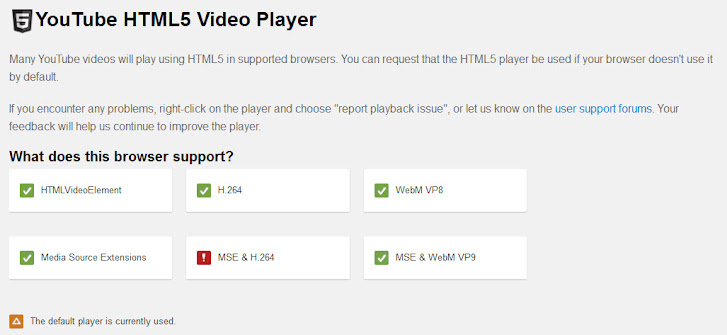 HTML 5 video player support on Cyberfox, modified