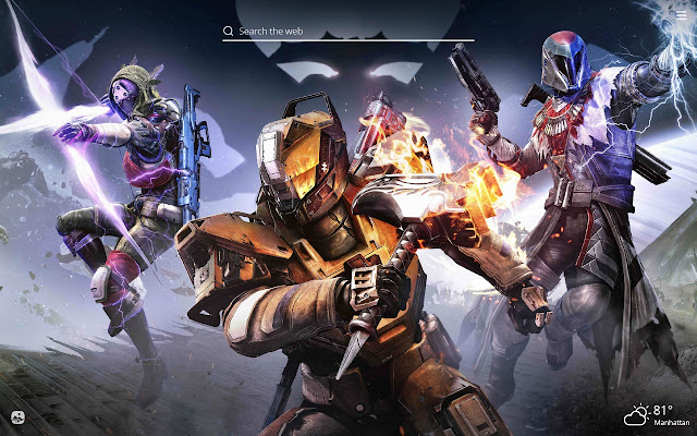 Destiny HD Wallpaper New Tab Theme