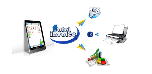 Hotel Invoice : quotations, invoices, customers, accounting, (A4, cash ticket)