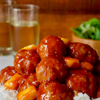 Baked Sweet and Sour Meatballs.