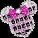 Twinkle Minny Bowknot Keyboard Theme (app)