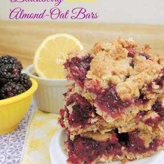 Blackberry Lemon Almond-Oat Bars