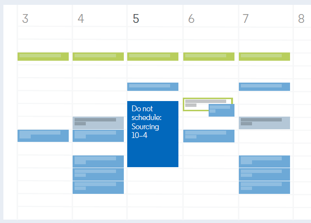 Chunk off time on your calendar to dedicate solely to sourcing. Source: LinkedIn