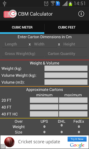 CBM Calculator by T S Solutions Private Limited (Google Play