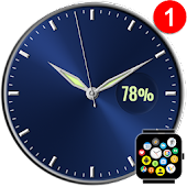 Free Analog Watch Face Theme for Bubble Clouds
