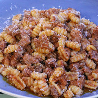 Sardinian pasta shells with Italian sausage and ragu