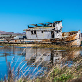 This old boat... by Craig Turner - Landscapes Waterscapes ( mountain, beach, beauty, travel, landscape, panorama, sun, tranquil, sky, nature, tree, snow, ecology, tropical ocean, evening, water, desert, park, grass, beautiful, sea, horizon, journey, lake, forest, paradise, sunlight, rural, amazing, dawn, vacation, season, blue, color, sunset, background, outdoor, scene, summer )