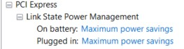 Power Options for PCI Express