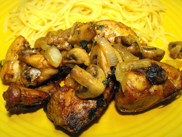 Chicken with Mushrooms - ActiFry Recipe