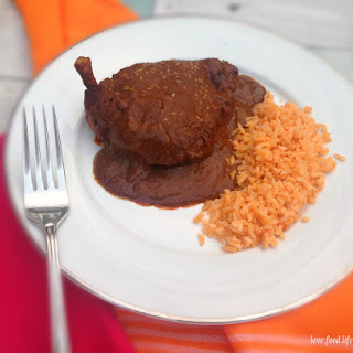 Chicken with Mole and Spanish Saffron RIce Recipe