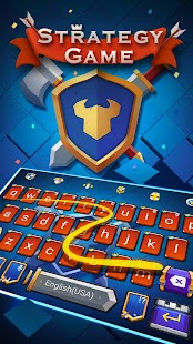 Strategy Games Keyboard Theme - náhled