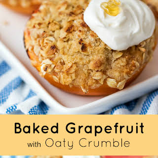 Baked Grapefruit with Oaty Crumble.